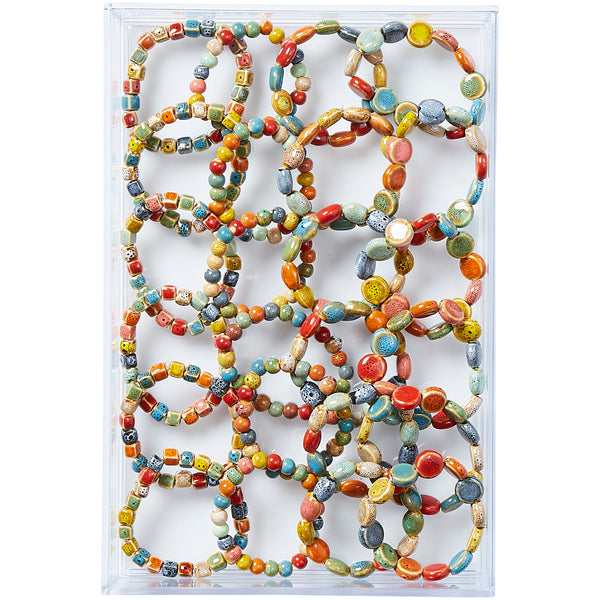 All Shapes Clay Mini Bracelets - Assorted 24 Pack