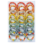 Cube Shape Clay Bead Bracelet - Assorted 24 Pack