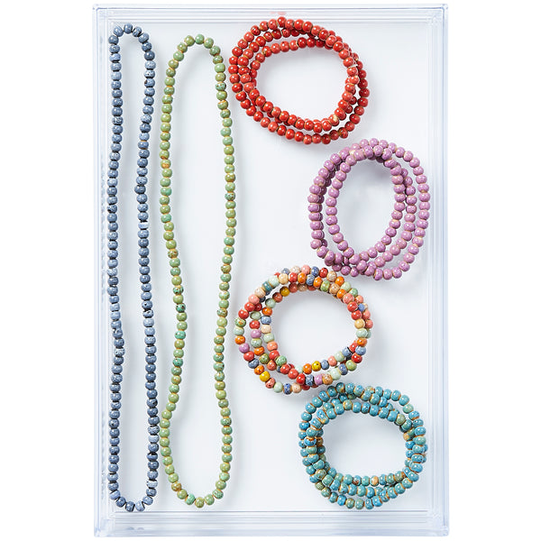 Clay Mini Round Wrap Bracelets - 12 Pack