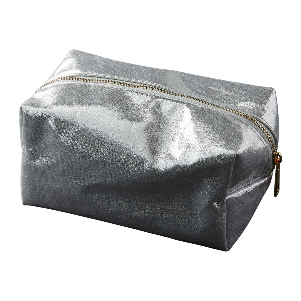 Silver Glam Makeup Bag - Tickled Pink Wholesale