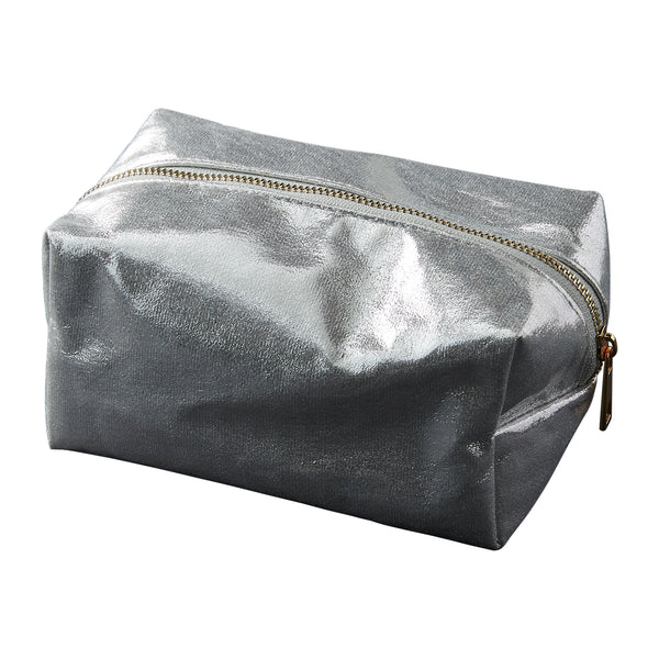 Wholesale Boutique Gifts - Silver Glam Makeup Bag - Tickled Pink