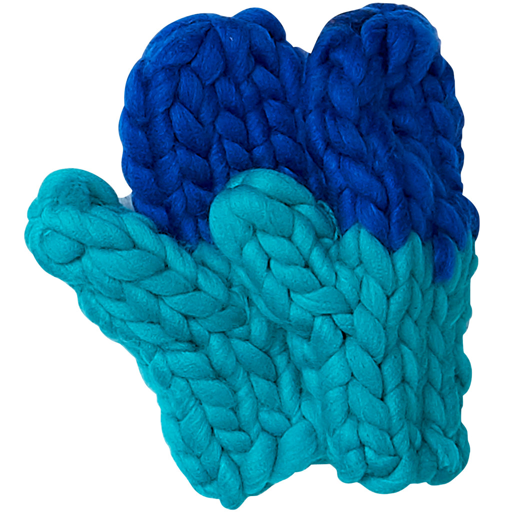 Navy & Blue Chunky Knit Mittens - Tickled Pink Wholesale