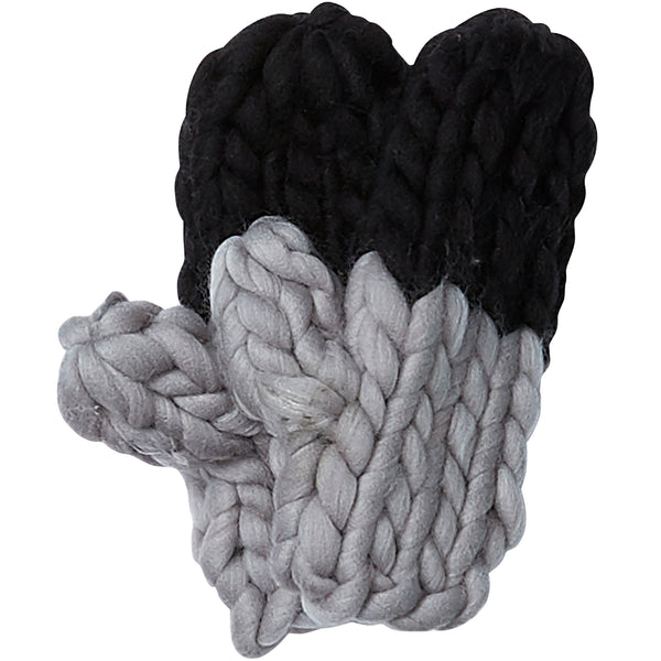 Wholesale Boutique Gifts - Black & Gray Chunky Knit Mittens - Tickled Pink