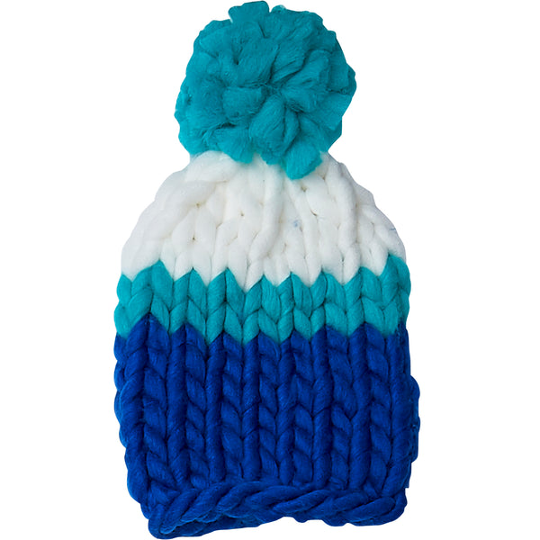 Wholesale Boutique Gifts - Navy & Blue Chunky Knit Hat - Tickled Pink