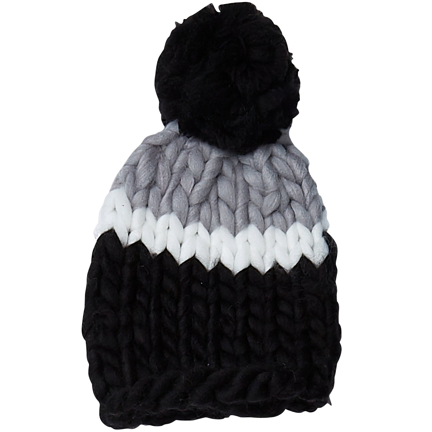 225f48ecfa7 Wholesale Boutique Gifts - Black   Gray Chunky Knit Hat - Tickled Pink