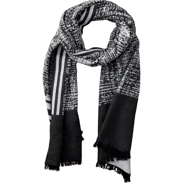 Wholesale Boutique Gifts - Black & White Temple Stripe Scarf - Tickled Pink