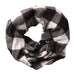 Wholesale Boutique Gifts - Black & White Buffalo Check Infinity - Tickled Pink