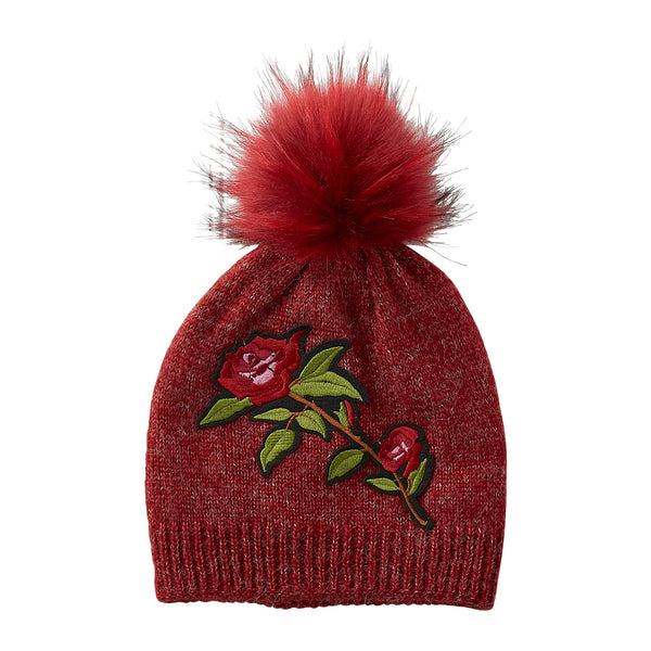 Wholesale Boutique Gifts - Ruby Embellished Rose Beanie - Tickled Pink