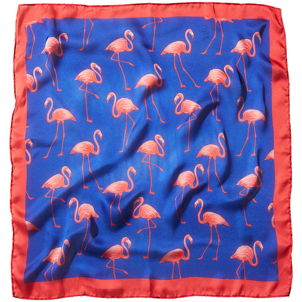 Wholesale Boutique Gifts - Flamingo Flock Lola Square Scarf - Tickled Pink