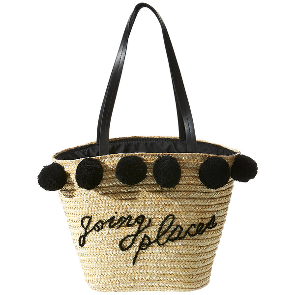 Going Places Straw Bag - Tickled Pink Wholesale