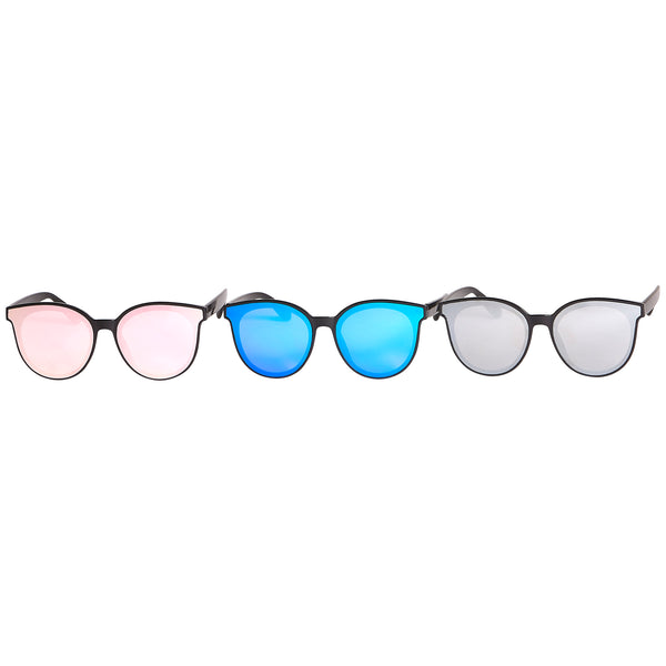 Pixie Mirror Cat Eye Sunglasses 3 Pack - Tickled Pink Wholesale