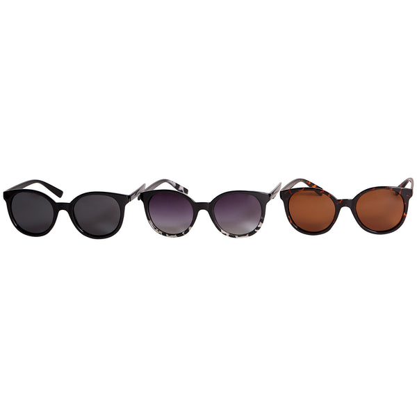 Jenna Polarized Round Sunglasses 3 Pack