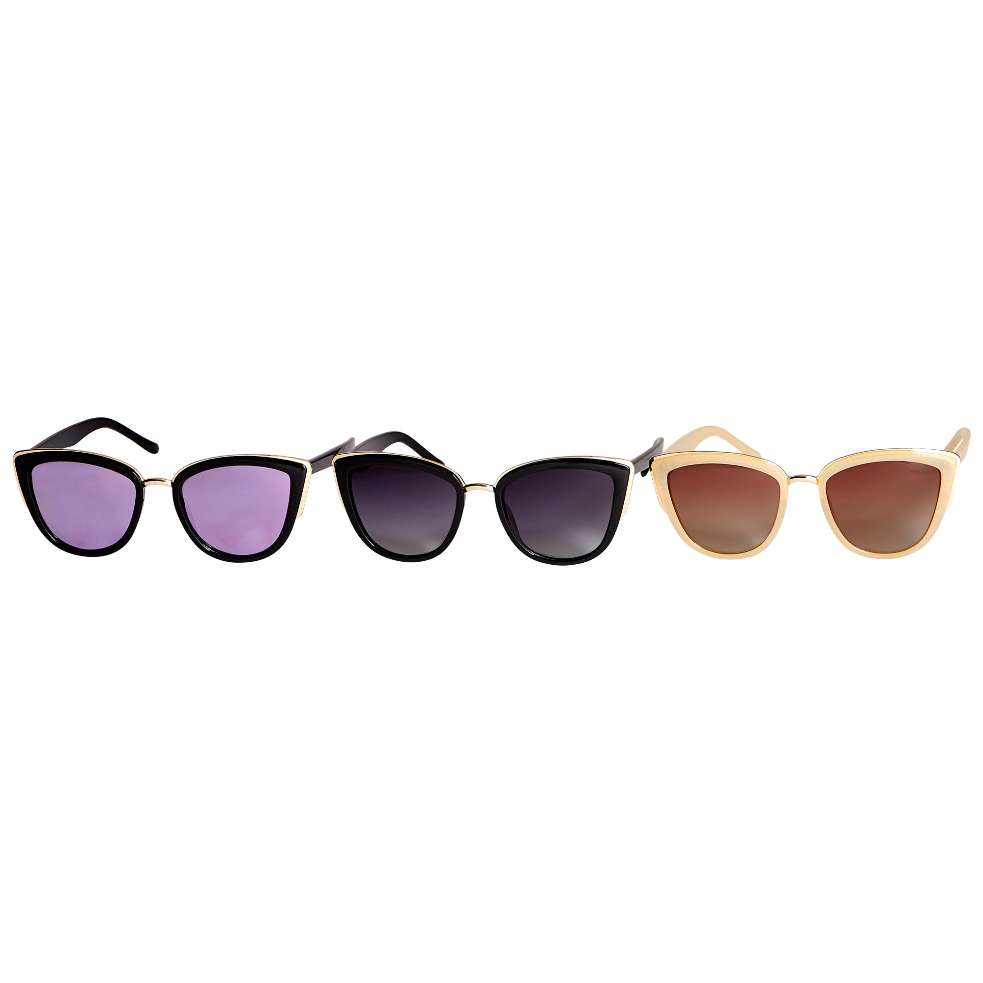 1b83a5348ac Wholesale Boutique Gifts - Kristin Polarized Cat Eye Sunglasses 3 Pack - Tickled  Pink