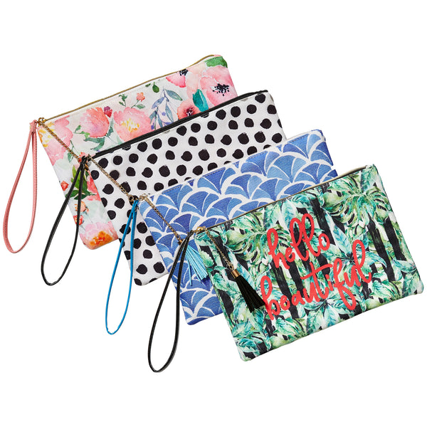 Wholesale Boutique Gifts - Printed Wristlet 4 Pack - Tickled Pink