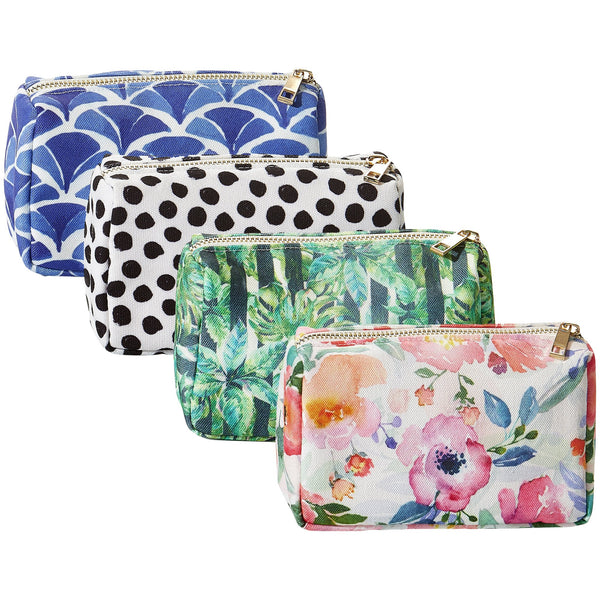 Wholesale Boutique Gifts - Small Makeup Bag 4 Pack - Tickled Pink