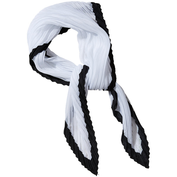 Black & White Crinkle Diamond Scarf - Tickled Pink Wholesale