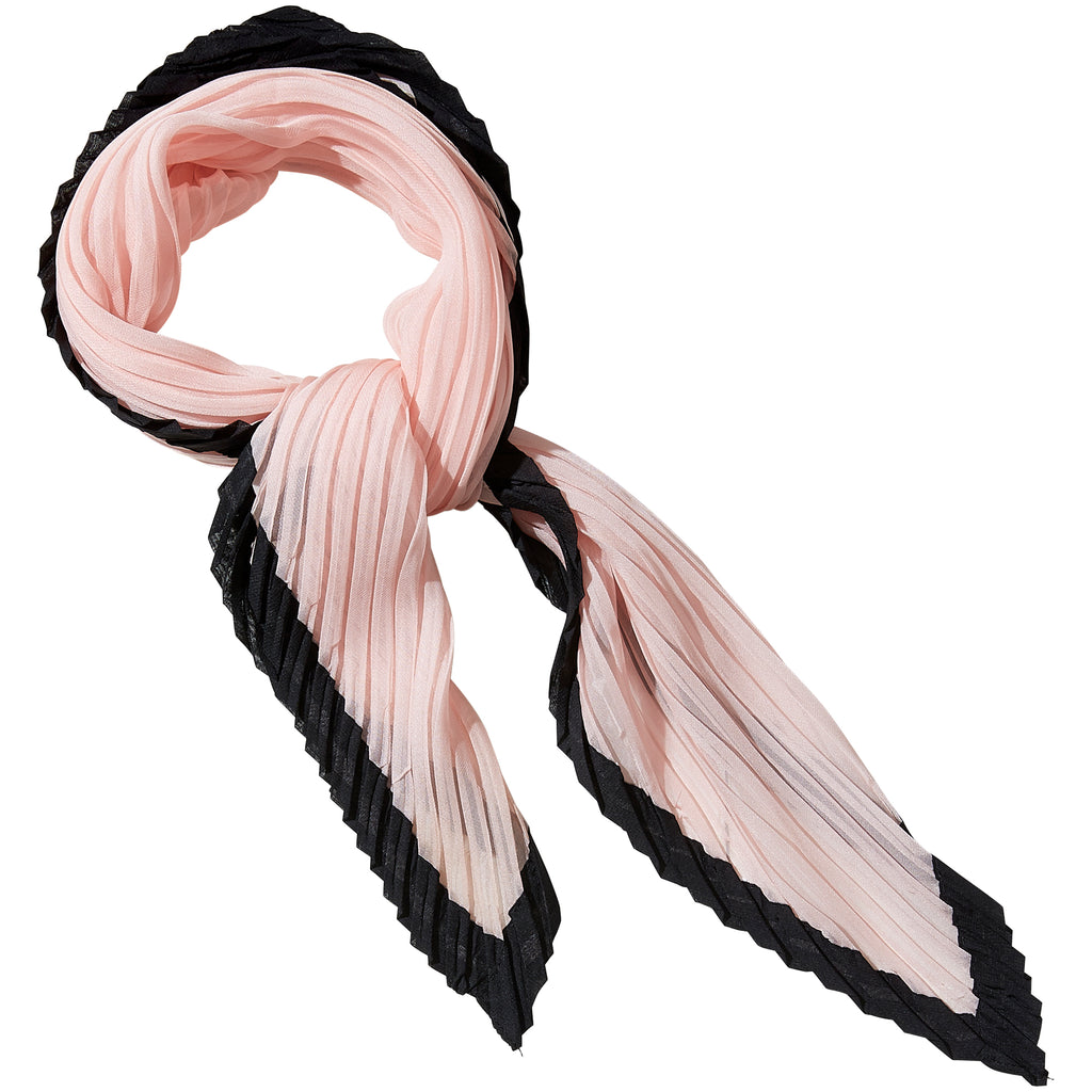 Pink & Black Crinkle Diamond Scarf - Tickled Pink Wholesale