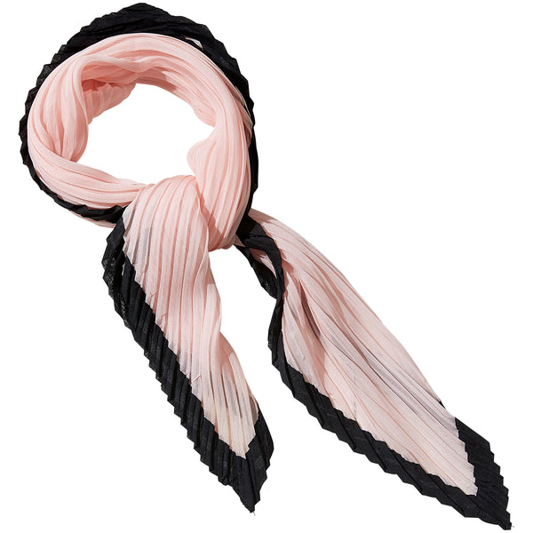 Wholesale Boutique Gifts - Pink & Black Crinkle Diamond Scarf - Tickled Pink