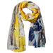 Yellow Golden Summer Floral Scarf - Tickled Pink Wholesale