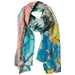 Pink Golden Summer Floral Scarf - Tickled Pink Wholesale