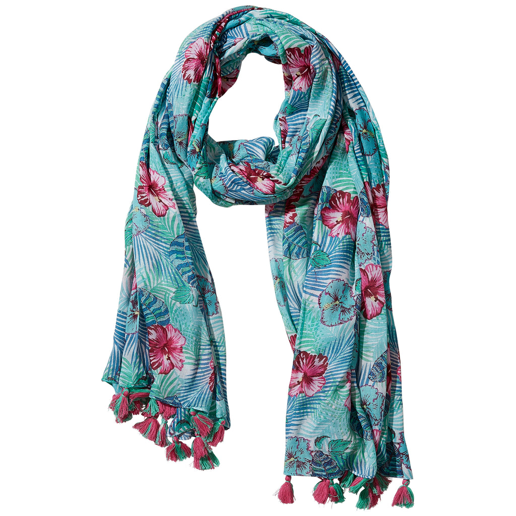 Wholesale Boutique Gifts - Aloha Summer Print Scarf - Tickled Pink