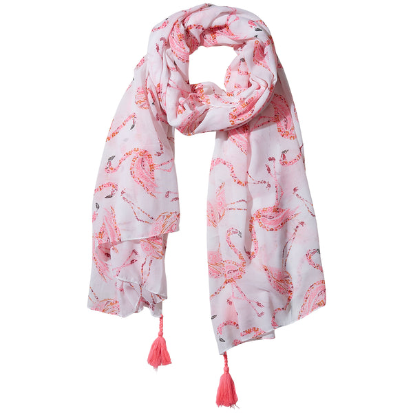 Watercolor Flamingos Scarf - Tickled Pink Wholesale