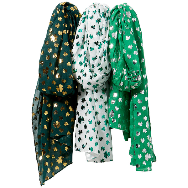 Lucky Clovers Scarf Mixed 3 Pack