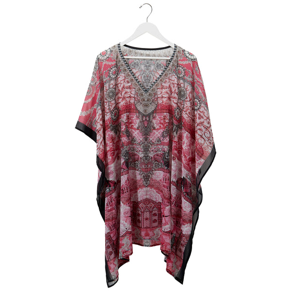 Wholesale Boutique Gifts - Pink Sena Georgette Kaftan - Tickled Pink