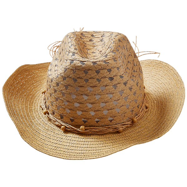 Wholesale Boutique Gifts - Tawny Beach Cowboy Hat - Tickled Pink