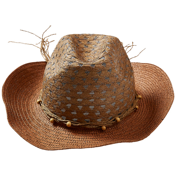 Wholesale Boutique Gifts - Brown Beach Cowboy Hat - Tickled Pink