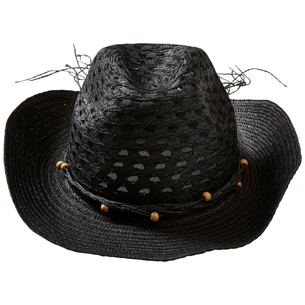 Wholesale Boutique Gifts - Black Beach Cowboy Hat - Tickled Pink