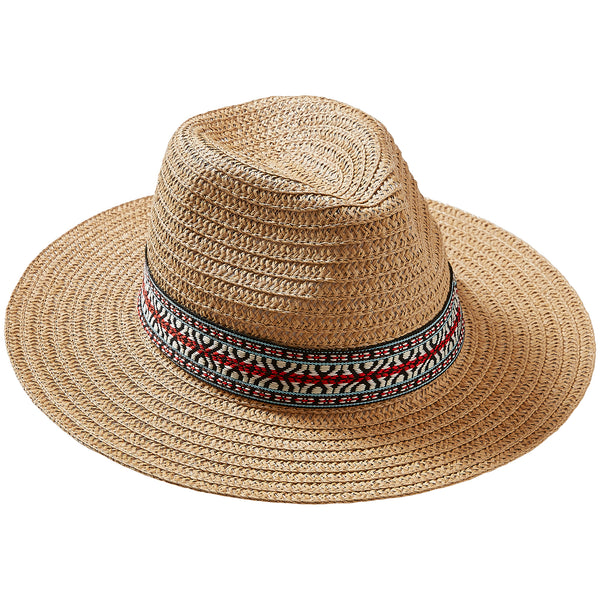 Wholesale Boutique Gifts - Straw Carson Panama Hat - Tickled Pink