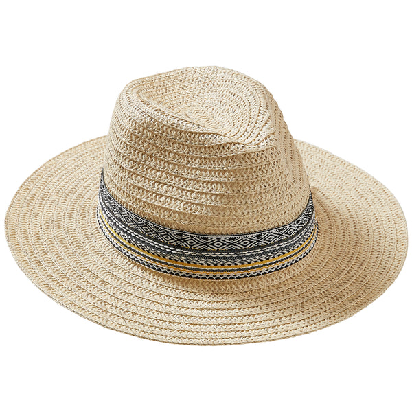 Wholesale Boutique Gifts - Cream Carson Panama Hat - Tickled Pink