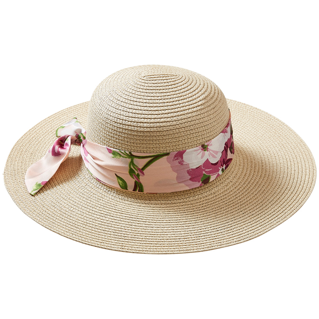 Sweet Spring Floral Cape Cod Floppy Hat - Tickled Pink Wholesale