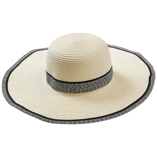 White Newport Sun Hat - Tickled Pink Wholesale