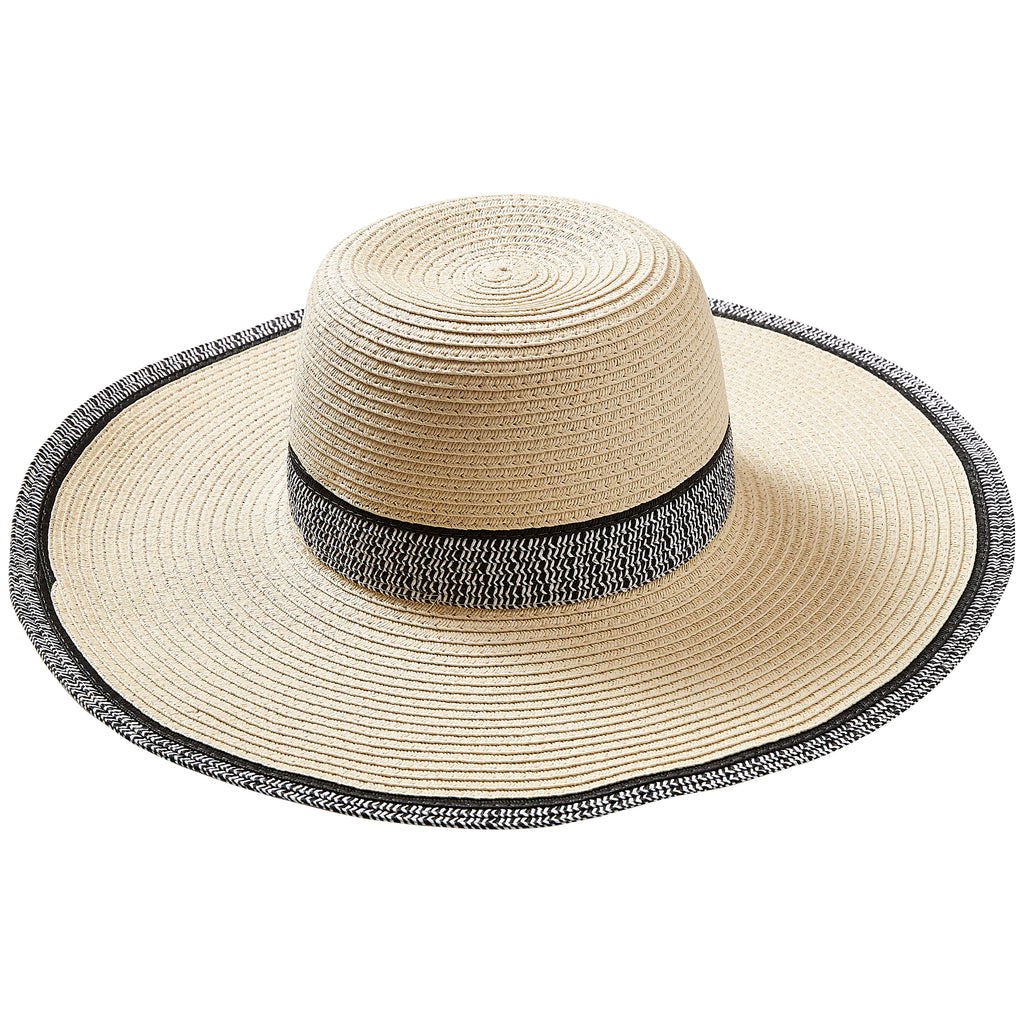 Cream Newport Sun Hat - Tickled Pink Wholesale