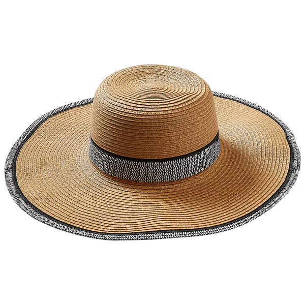 Straw Newport Sun Hat - Tickled Pink Wholesale