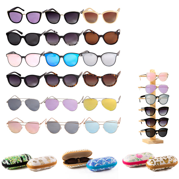 Wholesale Boutique Gifts - Sunglasses Package - Assorted 30 Pack - Tickled Pink