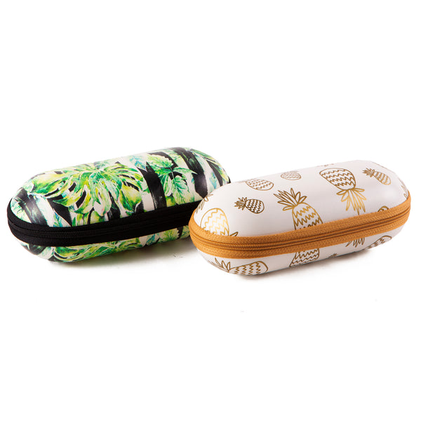 Wholesale Boutique Gifts - Tropical & Pineapples Sunglasses Case 4 Pack - Tickled Pink