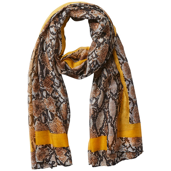 Camel Snake Skin Scarf - Tickled Pink Wholesale