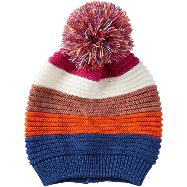 Stripe Beanie - Bright - Tickled Pink Wholesale