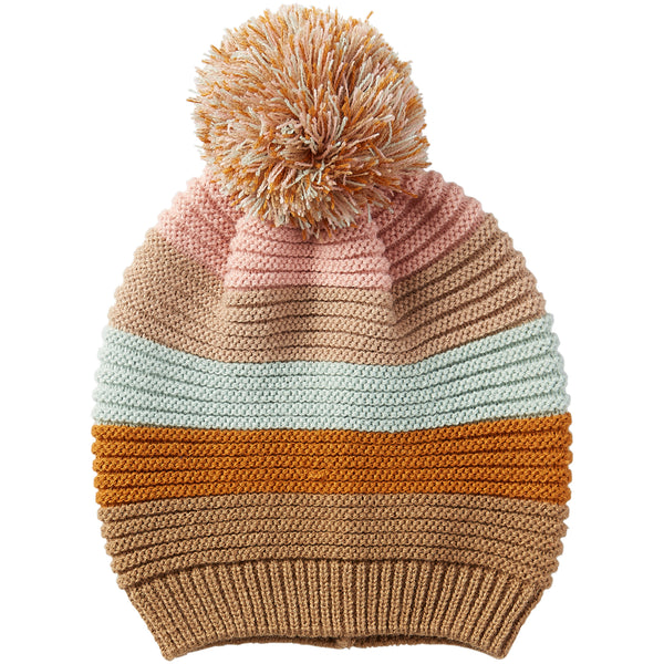 Stripe Beanie - Pastel - Tickled Pink Wholesale