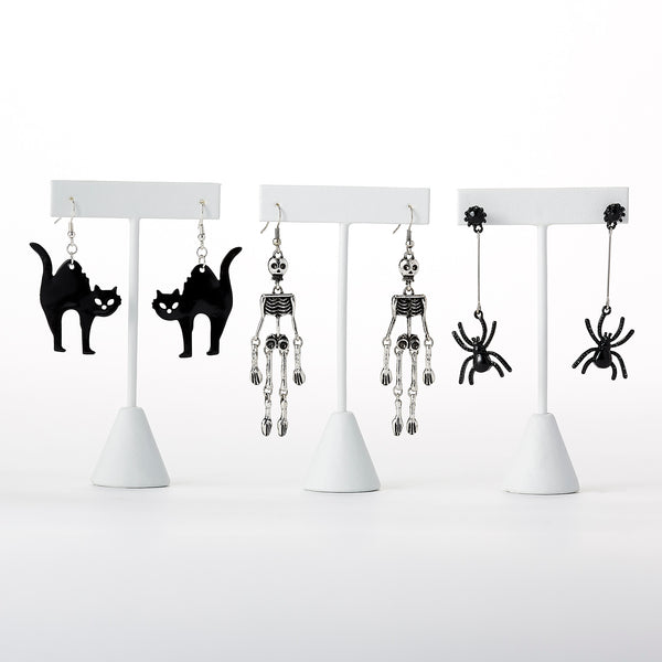 Scary Halloween Dangle Earrings Mixed 6 Pack - Tickled Pink Wholesale