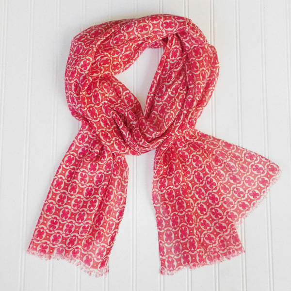 Basanti Floral Scarf - Pink - Tickled Pink Wholesale