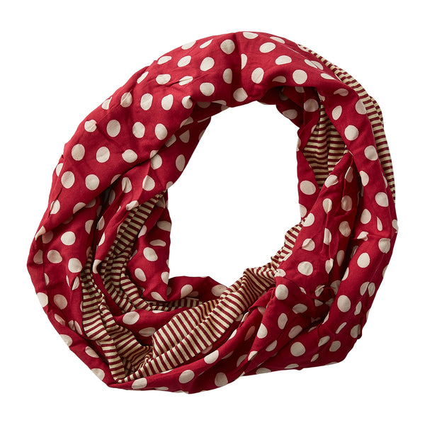 Wholesale Boutique Gifts - Dots & Stripes Infinity - Garnet Gold - Tickled Pink