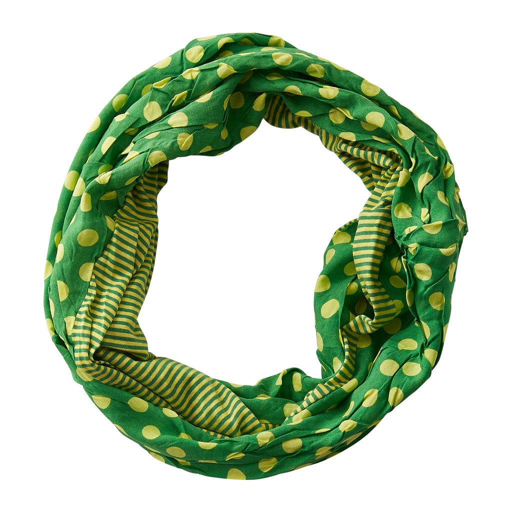 Dots & Stripes Infinity - Green Yellow - Tickled Pink Wholesale