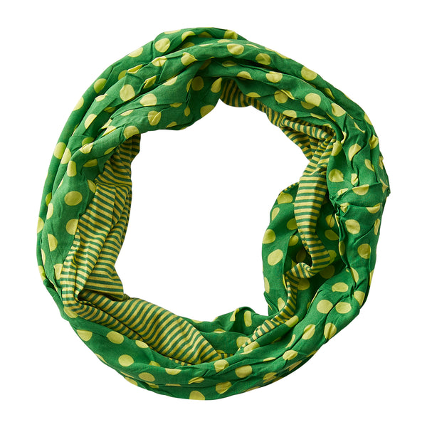 Wholesale Boutique Gifts - Dots & Stripes Infinity - Green Yellow - Tickled Pink
