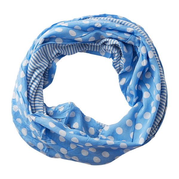 Wholesale Boutique Gifts - Dots & Stripes Infinity - Light Blue - Tickled Pink