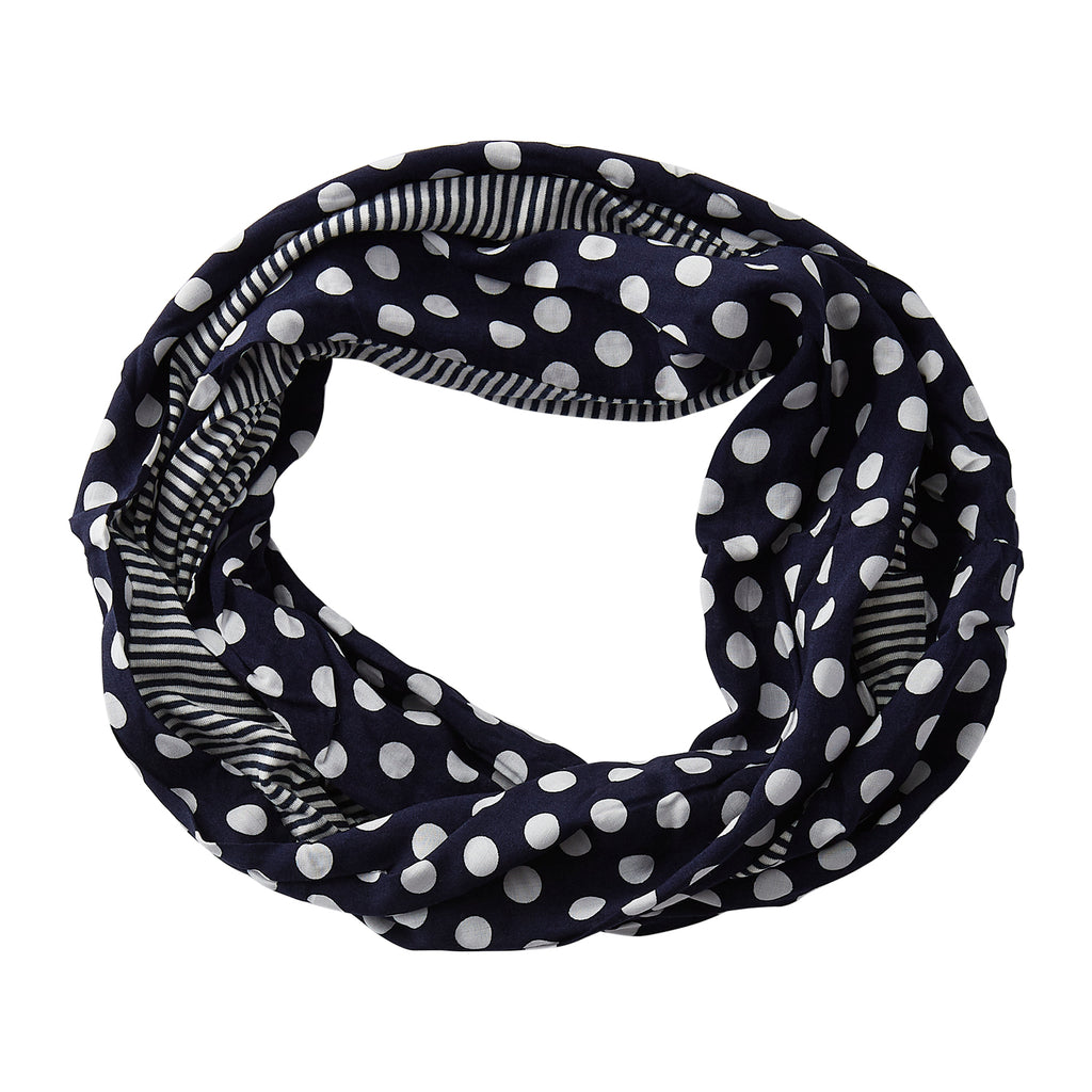 Dots & Stripes Infinity - Navy Blue - Tickled Pink Wholesale