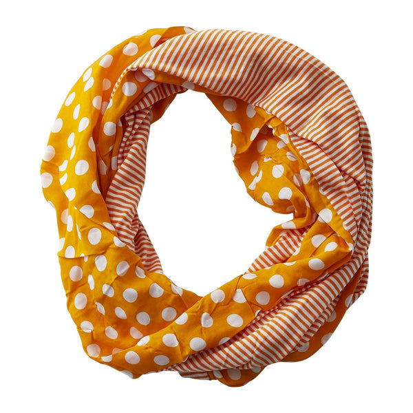 Wholesale Boutique Gifts - Dots & Stripes Infinity - Orange - Tickled Pink